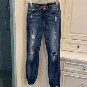 7 for a mankind ripped jeans